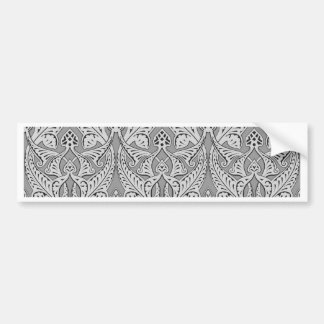 Abstract seamless art nouveau pattern bumper stickers