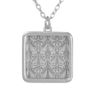 Abstract seamless art nouveau pattern personalised necklace