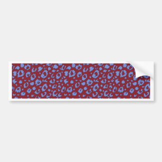 Abstract seamless pattern, blue red 03 car bumper sticker