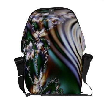 Abstract Seashell Courier Bag