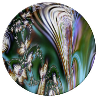 Abstract Seashell Dinner Plate
