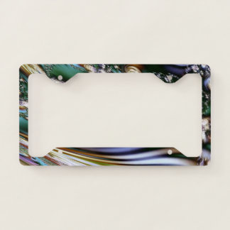 Abstract Seashell License Plate Frame