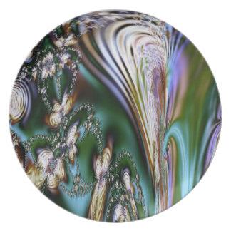 Abstract Seashell Melamine Plate