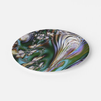 Abstract Seashell Paper Plate