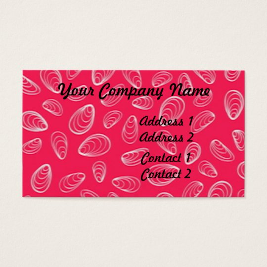 Abstract Seashells Business Card