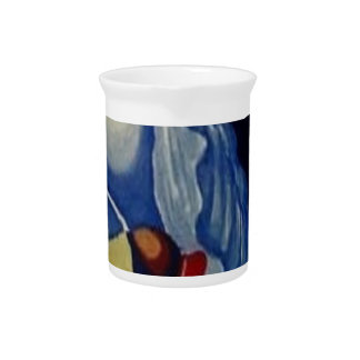 Abstract Seashells Pitcher