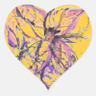 Abstract Seashore Heart Sticker