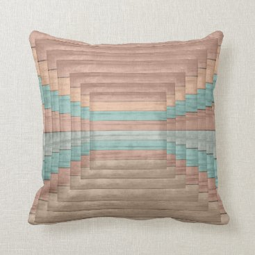 Beach Themed Abstract Seaside Beach Designer Style 2 Throw Pillow