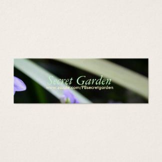 Abstract Secret Garden - Floral Photography Mini Business Card