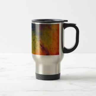 abstract seething color field travel mug