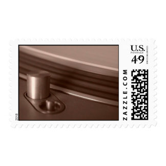 Abstract Sepia Mechanism Stamp