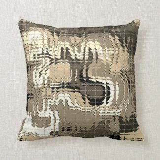 Abstract Sepia Pillow