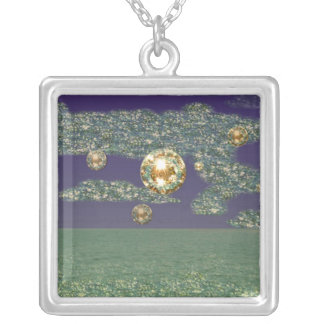Abstract Sequin Seascape necklace