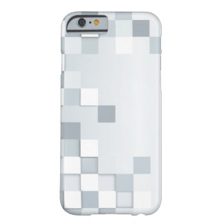 Abstract Shades of Grey Squares Barely There iPhone 6 Case