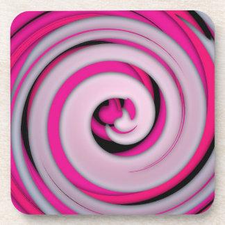 Abstract Shades of Pink Swirl Coaster