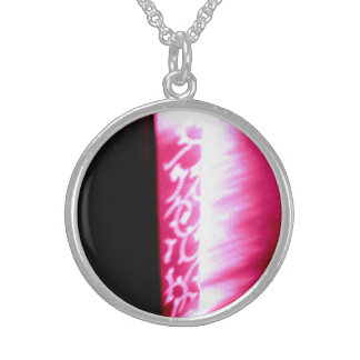 abstract shadow design necklace