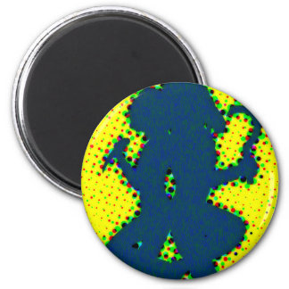Abstract shape 2 inch round magnet