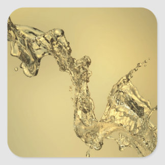 Abstract Shape Formed by Splashing Water Square Sticker