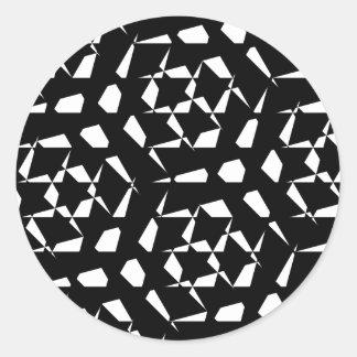 Abstract Shape/Geometric Patterns Classic Round Sticker