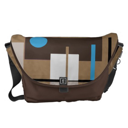 Abstract Shaped Pattern in Retro Colors Messenger Bag