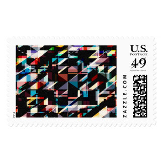 Abstract Shapes And Colors Postage Stamp
