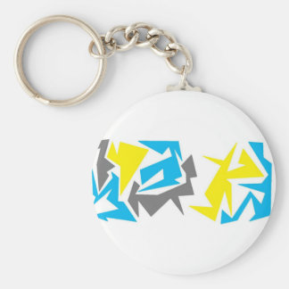 Abstract Shapes Key Chains