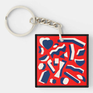 Abstract Shapes Keychain