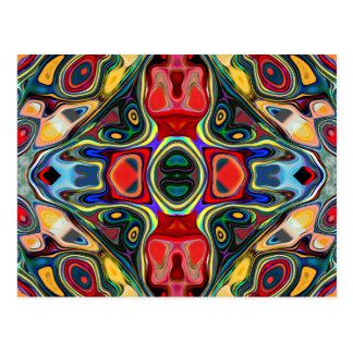 Abstract Shapes Mandala Postcard
