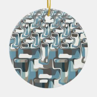 Abstract Shapes Metamorphosis Ceramic Ornament