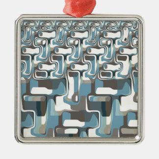 Abstract Shapes Metamorphosis Metal Ornament