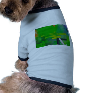 abstract shapes paint background dog tee