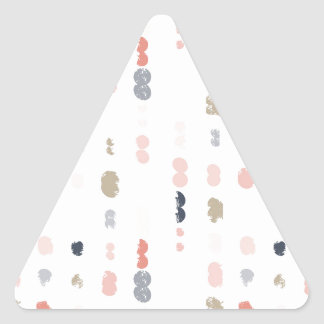 Abstract shapes pattern in pastel colors. triangle sticker