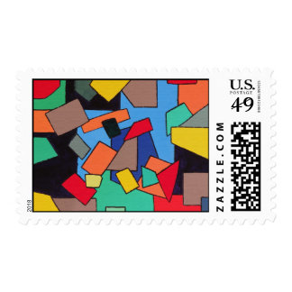 Abstract Shapes Postage Stamps