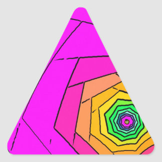 abstract shapes triangle sticker