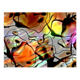Abstract Shapes with Light Effects Postcard