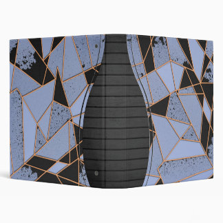 Abstract shattered 3 ring binder