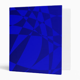 Abstract Shattered Blue Glass 3 Ring Binder