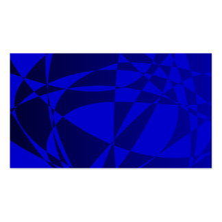 Abstract Shattered Blue Glass Business Card Template