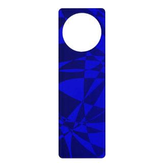 Abstract Shattered Blue Glass Door Hangers