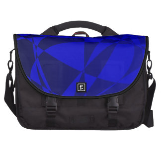Abstract Shattered Blue Glass Bags For Laptop