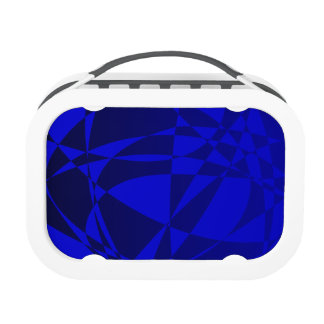 Abstract Shattered Blue Glass Lunchbox