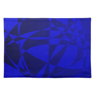 Abstract Shattered Blue Glass Placemat