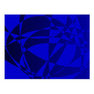 Abstract Shattered Blue Glass Postcard