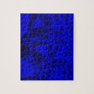 Abstract Shattered Blue Glass Puzzle