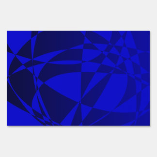 Abstract Shattered Blue Glass Yard Sign
