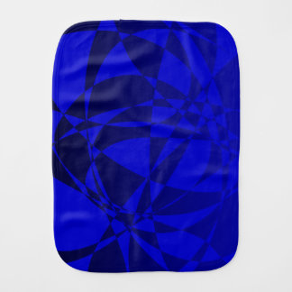 Abstract Shattered Blue Glass Burp Cloths