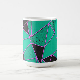 Abstract shattered coffee mug
