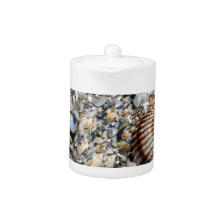 abstract shells on the beach teapot