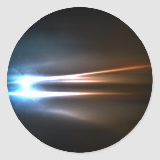 Abstract Shiny Energy Rays Classic Round Sticker