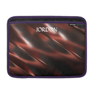 Abstract Shiny Metallic Reddish Metal MacBook Sleeve